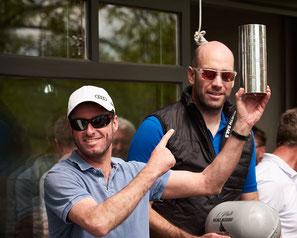 Johannes Polgar und Markus Koy, der Steuermann und der Vorschoter mit den jeweils meisten Siegen
