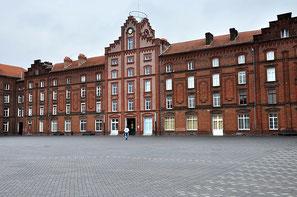 Familistère de Guise, façade du pavillon central