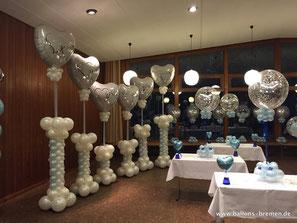 Hochzeitsdekoration aus Luftballons