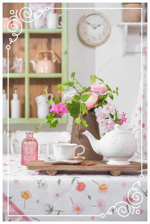 Tischdeko in pastellfarben, ein Hauch von Romantik, Frühlingsfrische, Nostalgie, Deko, Brakel, Dekoration, Clayre & Eef