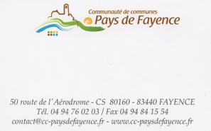 Communauté de Commune Pays de Fayence