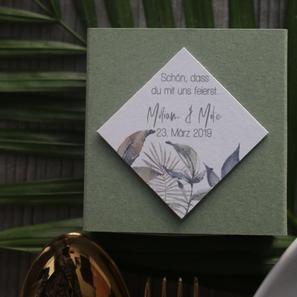 Hochzeitspapeterie Greenery Gastgeschenk