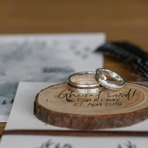 Hochzeitspapeterie bayrisch modern Holzschild