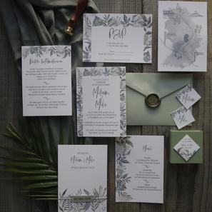 Hochzeitspapeterie Greenery