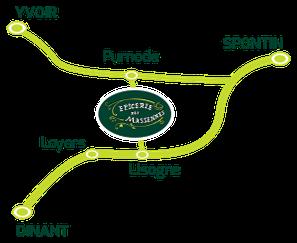 Plan d'accès épicerie des Massennes