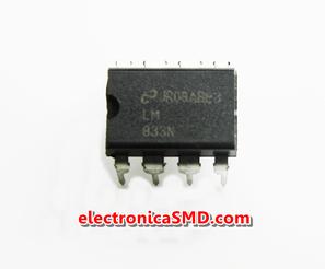 Cicuitos Integrados CI Electronica Electronico Guatemala ElectronicaSMD LM833 Operacional  Audio