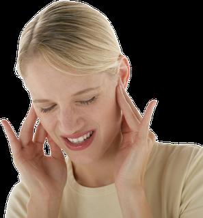 Schmerzen in den Ohren oder in den Kiefergelenken? Testen Sie selbst! (© proDente e.V.)