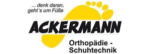 Logo Ackermann Orthopädie - Schuhtechnik - Sponsor von Sicherheitshalbe