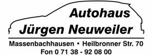 Logo Autohaus Jürgen Neuweiler - Sponsor von Sicherheitshalbe