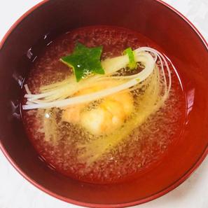 素麺のお味噌汁