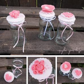 cupcake-topper aus fondant & alte marmeladengläser...