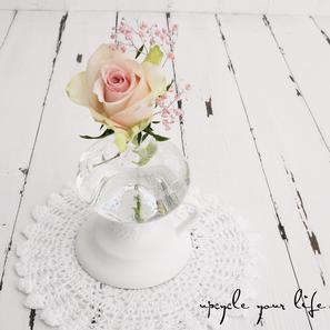vase für einzelne schönheiten aus einer alten öllampe...