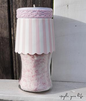 sprudelbad erdbeer-sahne... mit rosa perlchen & glitzer...