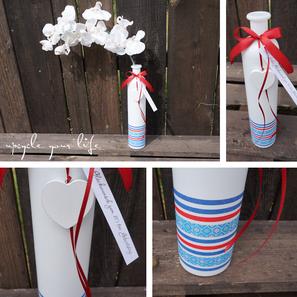 vase aufgehübscht mit washi-tape & geburtstagsanhänger...