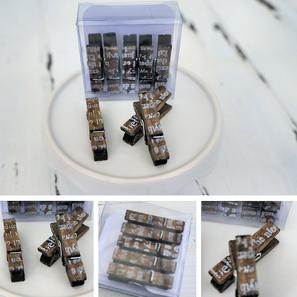 miniklammern hübsch verpackt (natürlich recycled) und fertig zum verschenken (oder selbst behalten ;o)...