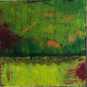 Artigkeit, Claudia Karrasch, Studio Bonn, Malen, Kunst, Abstrakte Malerei, Knitter 2, Acryl, Kohle, Ölkreide, Bonbonpapier, auf Leinwand, 50 X 50 cm