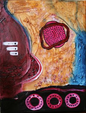 Artigkeit, Claudia Karrasch, Bonn, Malen, Abstrakte Malerei, Kunst, Studio, 2-Dreierlei