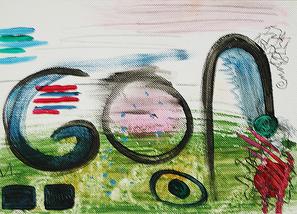 Artigkeit, Claudia Karrasch, Bonn, Malen, Abstrakte Malerei, Kunst, Studio, Papier, Dreierlei 3
