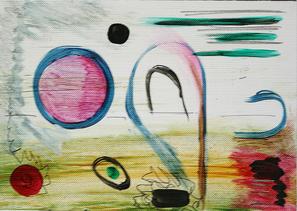 Artigkeit, Claudia Karrasch, Bonn, Malen, Abstrakte Malerei, Kunst, Studio, Papier, Dreierlei 2