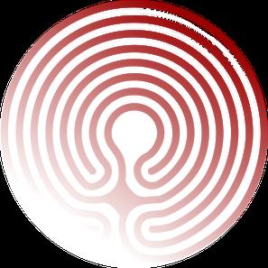 Das Logo des Unternehmens Textlabyrinth zeigt ein Knidos-Labyrinth.