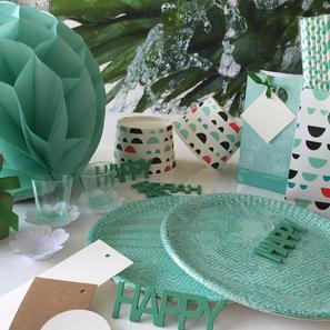 Papieren rietjes, bordjes, eindloos combinaties voor jouw sweet table