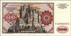 500 DM-Schein bis 1995