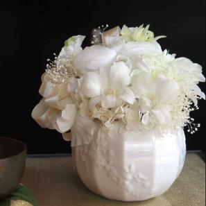 プリザーブドフラワー,仏花,お供え,お悔み,白