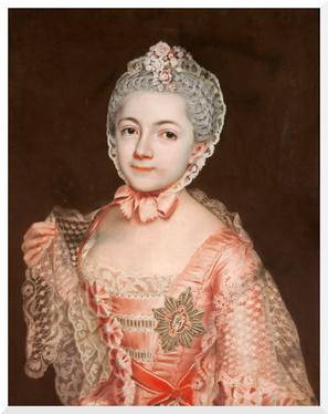 Gemälde von Christoph Friedrich Reinhold Lisiewsky - Agnes von Anhalt-Dessau (1763)
