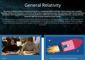 General Relativity, digital learning environment