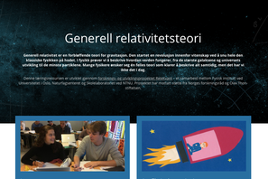Screenshot of an online learning environment in general relativity. One can see two students and an accelerating spaceship.