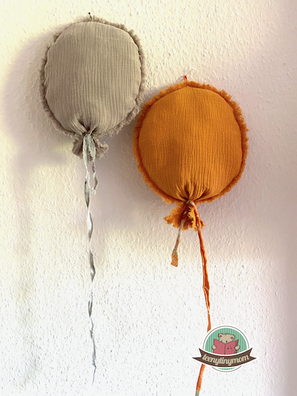 Ballons aus Musselin, Nähanleitung, Kinderzimmer, Babyzimmer, Kostenlose Anleitung