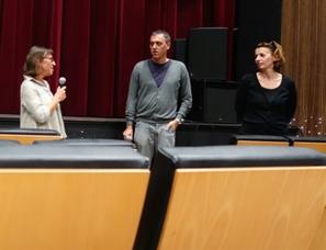 """Cyril Leuthy (réalisateur) et Juliette Cazanave (productrice) présentant leur film """"La nuit s'achève"""""""