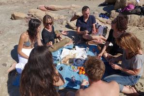 les jeunes réalisateurs sur la plage