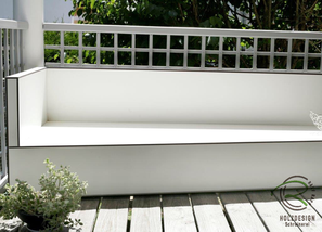 wetterfeste Sitzlounge für Balkon o. Terrasse ohne Bepolsterung