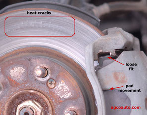 Heat Cracked Brake Drum
