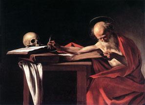 La retraite du traducteur (Saint Jérôme écrivant, par Le Caravage)