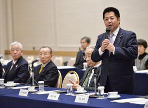 「今後も小規模事業者の声をしっかりと聞いていきたい」と2月の全政連総会で挨拶した渡辺議員