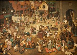Le combat de Carnaval et de Carême, Pieter Brueghel l'Ancien