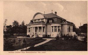 Südseite der Villa - Postkarte von 1920
