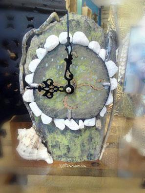 madera de mar, driftwood clock, madera de mar, driftwood clock, reloj mesa, reloj madera, caprichos artesanias, vymcreaciones, vymcreaciones.com