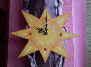 Reloj madera de mar, madera de mar, driftwood clock, madera, eco desing, vymcreaciones, etsy, driftwood, sol, etsy sun