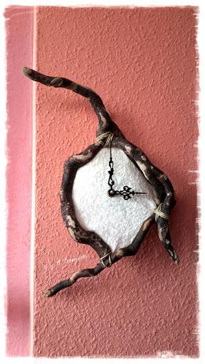 Reloj madera de mar, madera de mar, viking, vikingo, vymcreaciones.com, vymcreaciones, driftwood clock, clock, driftwood art
