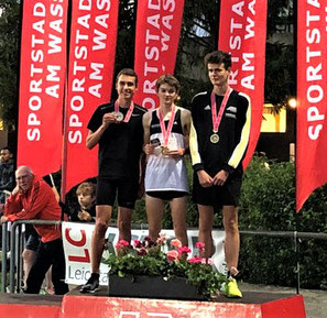 Siegerehrung U18M (Foto: Homepage LC Therwil)