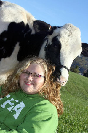 Lizzie with one of her favorite cows!