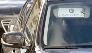 """VTC affichant sur le pare-brise """"chauffeur privé"""""""