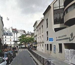 Bains-douches de la rue Lacépède Paris 5ème ardt. Photo Google streetview