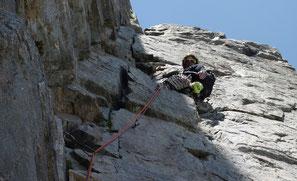 Dans la Frizon-Roche au Brevent : Chamonix - Mont-Blanc
