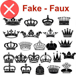 We estimate that 98% of crowns or coats of arms are counterfeit.  trunk Louis Vuitton