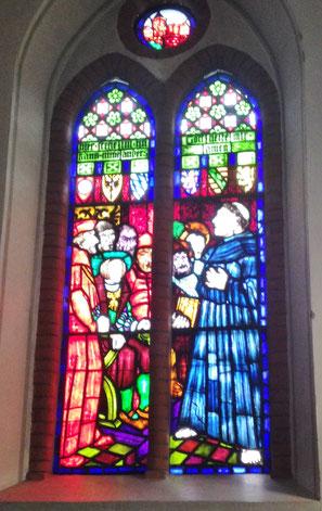 Lutherfenster in der Kirche Klein Wesenberg