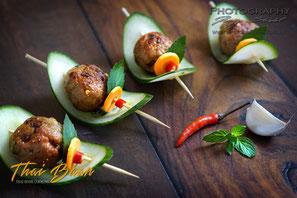 Laab Moo Thod; ; Thai Baan Neudorf; Yupin Seidel; thailändischer Kochservice; Foodtruck; Kochkurs, Thaifood, gesunde Ernährung, Restaurant